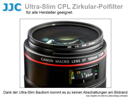 JJC zirkulärer Polfilter Ultra Slim, 77mm