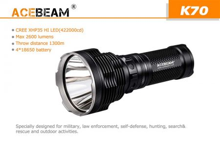 Acebeam K70 - the mega ultra-thrower!