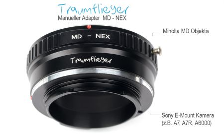 Traumflieger manuel Minolta MD for Sony E-Mount Adapter Adapter