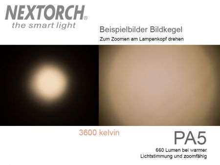 Nextorch PA5 focusable LED flash light with 660 lumens