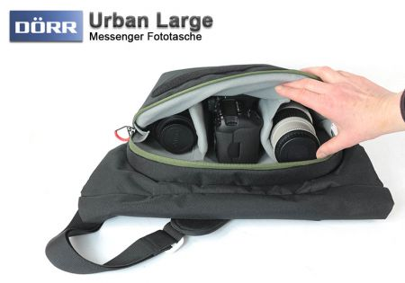 Doerr photo bag Urban Large, black-green