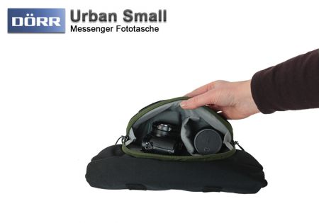 Doerr photo bag Urban Small, black-green