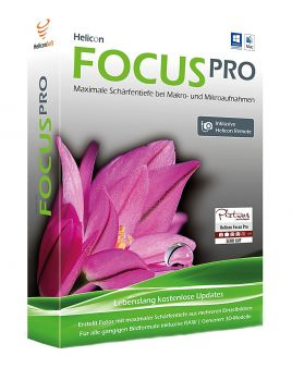 Helicon Focus PRO + Helicon Remote (nur Lizenzkey) unlimited PC/MAC