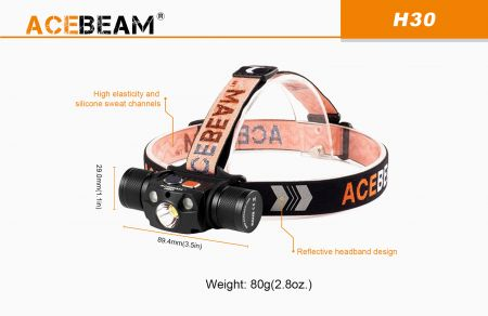 AceBeam H30 headlamp NW (5000k)