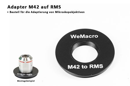 adapter M42 RMS for microscop lenses