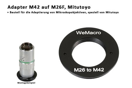 adapter M42 M26 for Mitutoyo microscop lenses