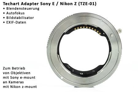 Techart autofocus adapter Sony E - Nikon Z (TZE-01)