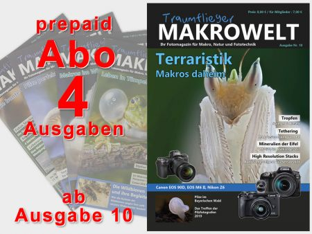 Traumflieger MAKROWELT prepaid abo for 4 editions (starting nr.10)