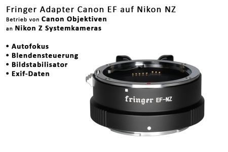 Fringer EF-NZ Adapter (FR-NZ1) Canon EF to Nikon Z