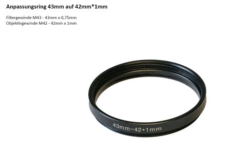 step down ring 43 to 42mm*1mm