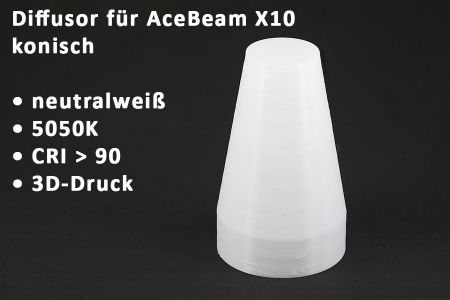 diffusor X10 conical neutral white