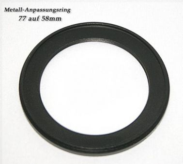 Step Down Ring 77mm to 58mm