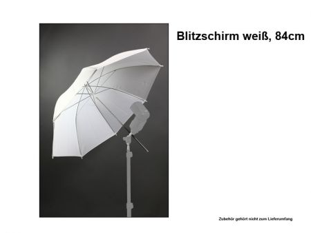 Translucent Light Umbrella - white 84cm