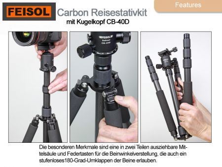 Feisol Traveltripod CT-3441S Rapid incl. ballhead CB-40D
