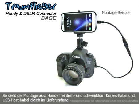 Traumflieger Handy und DSLR Connector BASE