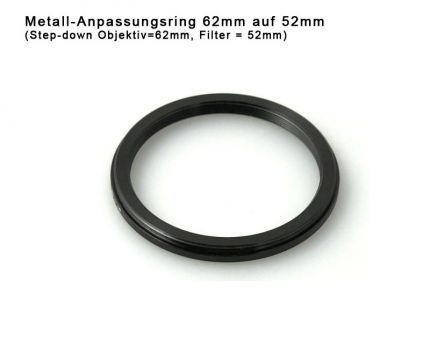 Step-down Ring 62mm to 52mm