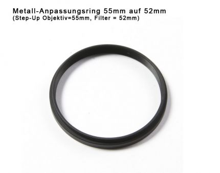 Step-up Ring 55mm to 52mm
