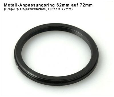 Step up Ring 62 to 72mm