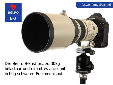 Benro Ball Head B3 incl. PU-60 - new version