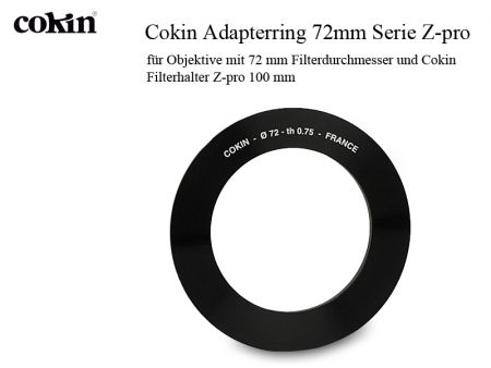 Cokin Adapter Ring Z472/72 mm for Zpro-Serie