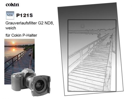 Cokin P121S Gradual Neutral Grey G2 Soft ND8 0.9 82mm