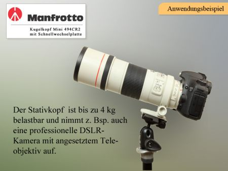 Manfrotto Kugelkopf Mini 494RC2