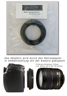 Retro-Adapter Professional für Nikon (52mm)