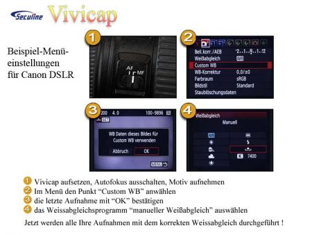 Vivicap White Balance Filter and Lens Cover 72mm