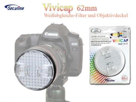Vivicap White Balance Filter and Lens Cover 58mm