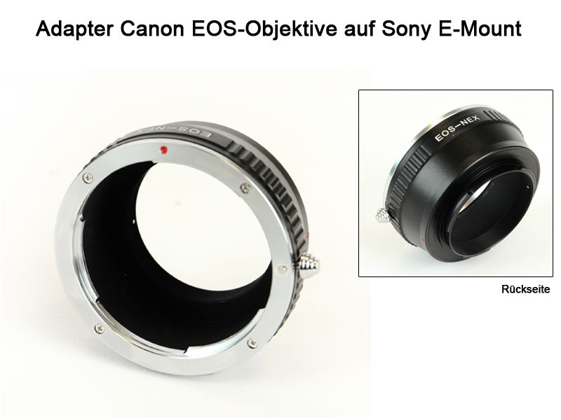 adapter canon eos auf sony e mount sony a7 a7r traumflieger. Black Bedroom Furniture Sets. Home Design Ideas
