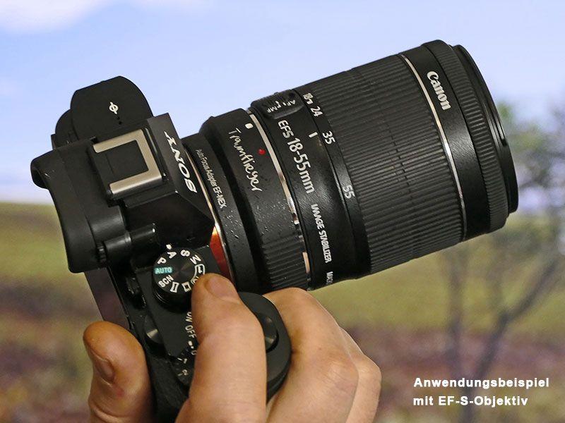 Automatischer Canon EF> Sony NEX E-Mount-Adapter (Sony A7 ...