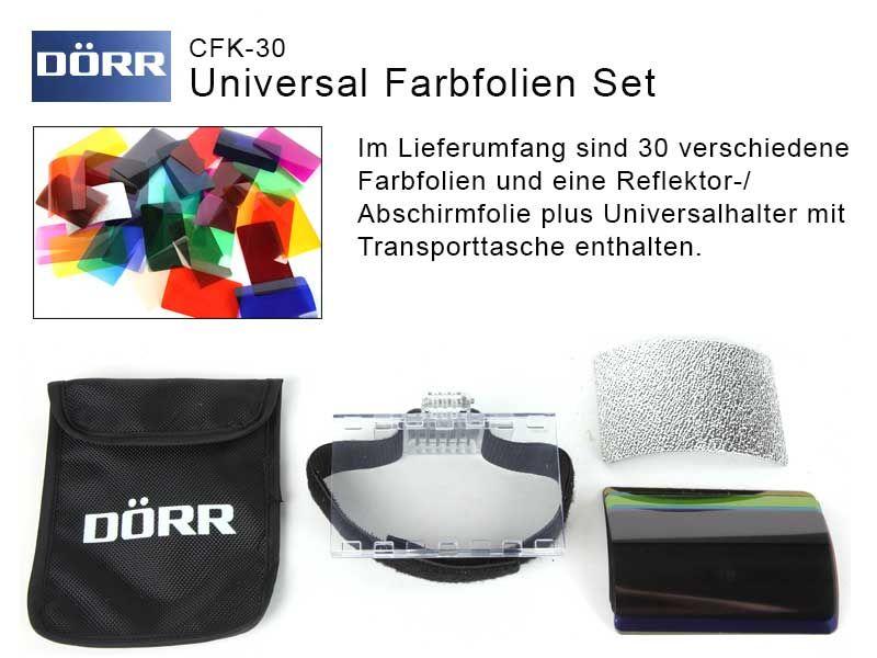 Dörr Farbfolien-Vorsatz Set CFK-30 für Aufsteckblitze - Traumflieger