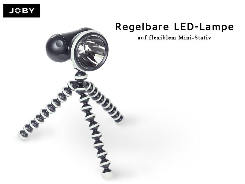 joby regelbare led lampe mit stativ traumflieger. Black Bedroom Furniture Sets. Home Design Ideas