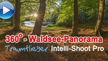 Waldsee-Panorama mit dem Traumflieger Intelli-Shoot Pro